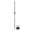 House of Forgings Solid 44-in Wrought Iron Twist Stair Baluster