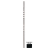 House of Forgings 44-in Classic Tubular Powder-Coated Wrought Iron Double Twist Baluster