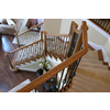 House of Forgings Hollow 44-in Satin Black Wrought Iron Twist Stair Baluster
