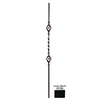 House of Forgings 44-in Classic Tubular Powder-Coated Wrought Iron Double Basket Baluster