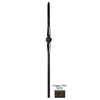 House of Forgings Gothic Square Hammered 1.187-in x 47-in Painted Wrought Iron Stair Newel Post