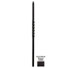 House of Forgings Twist Series 1.187-in x 47-in Painted Wrought Iron Stair Newel Post