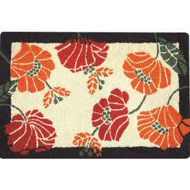 Style Selections Rectangular Indoor and Outdoor Hand-Hooked Throw Rug (Common: 2 x 3; Actual: 24-in W x 36-in L)