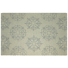 allen + roth Off-White Rectangular Indoor Tufted Area Rug (Common: 5 x 8; Actual: 63-in W x 94-in L)
