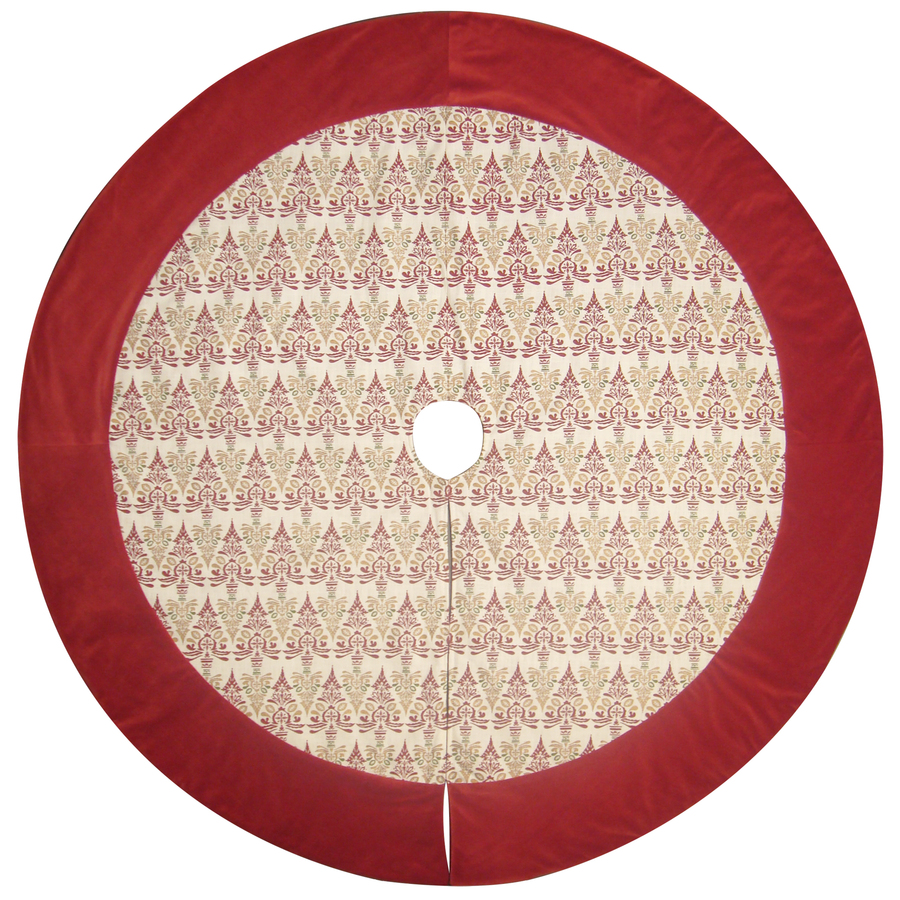 Allen Roth 56 In Red Traditional Christmas Tree Skirt