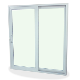 SecuraSeal 59-in Low-E Argon Clear Composite Sliding  Patio Door