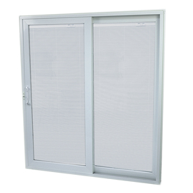 SecuraSeal 59-in Low-E Argon Blinds Between Glass Composite Sliding  Patio Door