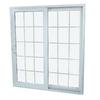 SecuraSeal 71-in Low-E Argon Grilles Between Glass Composite Sliding  Patio Door