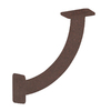 Federal Brace San Marino 11-in x 3-in x 11-in Bronze Countertop Support Bracket