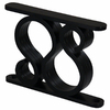Federal Brace Thames 5-in x 1-in x 7-in Black Countertop Support Bracket
