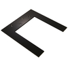 Federal Brace Lincoln Top Plate Hidden Support 0.25-in x 12-in x 17.25-in Black Countertop Support Bracket