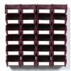 LocBin 26-Pack 4.125-in W x 3-in H x 5.375-in D Raspberry Plastic Bins
