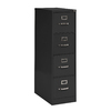 edsal Sandusky Vertical Files Black 4-Drawer File Cabinet