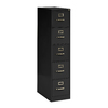 edsal Sandusky Vertical Files Black 5-Drawer File Cabinet
