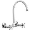 AquaSource Chrome 2-Handle High-Arc Wall Mount Kitchen Faucet