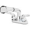 Project Source Chrome 2-Handle Utility Faucet with Pulldown Sprayer