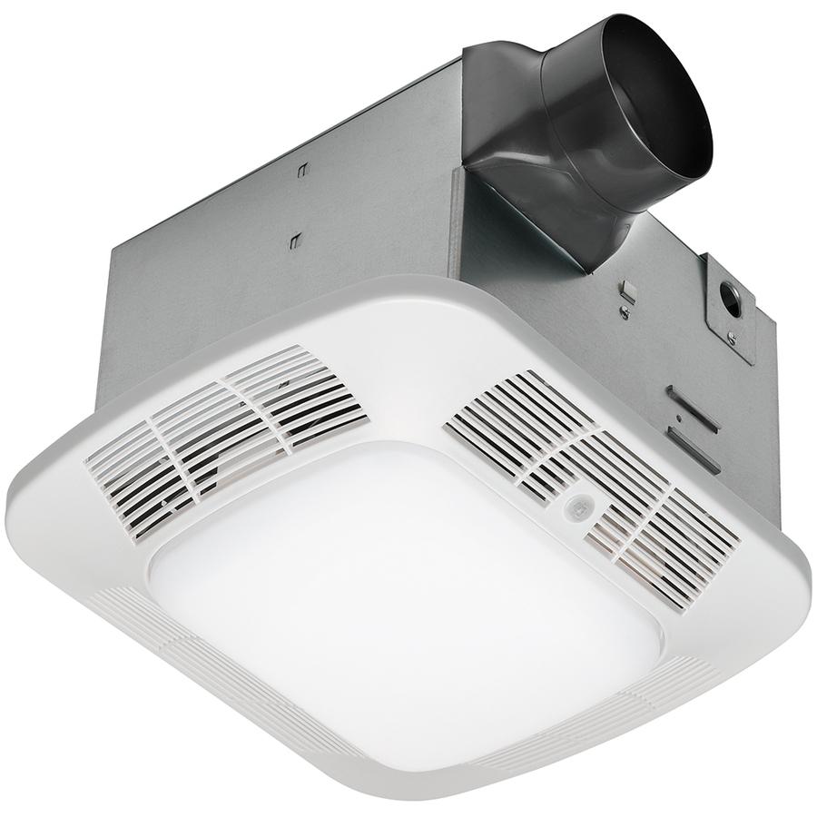 Utilitech 2 Sones 70 Cfm White Bathroom Fan Room Light: Shop Utilitech 1.2-Sone 110-CFM White Bathroom Fan With
