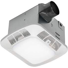 Shop Utilitech 1 2 Sone 110 Cfm White Bathroom Fan With Light At