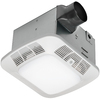 Utilitech 1.2-Sone 110-CFM White Bathroom Fan with Room and Night Light