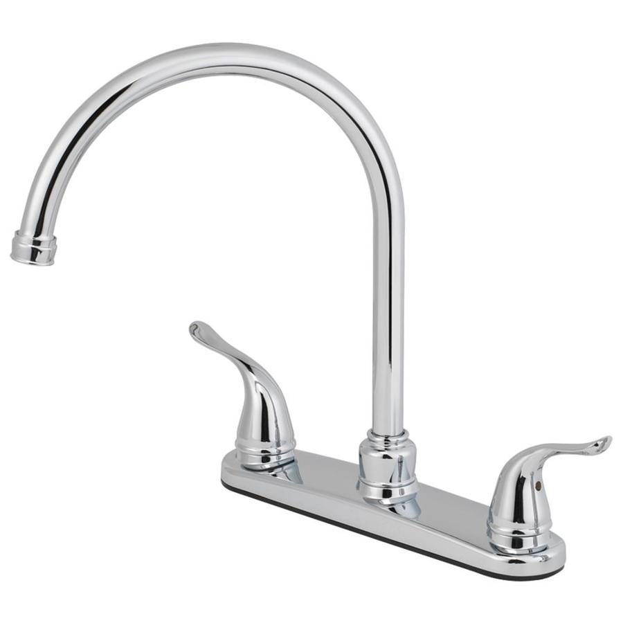Shop Aquasource Chrome 2 Handle High Arc Kitchen Faucet At