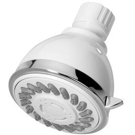 AquaSource 3-in 2.5-GPM (9.5-LPM) White 3-Spray Showerhead