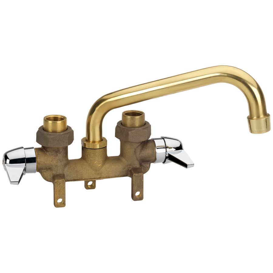 Faucet Utility Sink : Shop AquaSource Rough Brass 2-Handle Utility Sink Faucet at Lowes.com