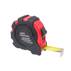 Task Force 12-ft Locking Fractional Tape Measure