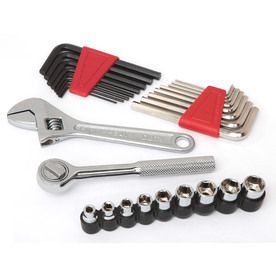 Task Force 27-Piece Standard (Sae) and Metric Combination Mechanic's Tool Set