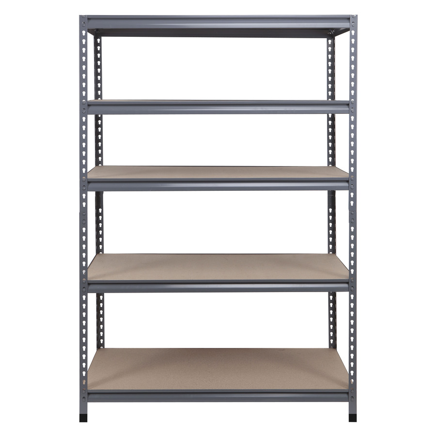 shop workpro 72 in h x 48 in w x 24 in d 5 tier steel freestanding shelving unit at. Black Bedroom Furniture Sets. Home Design Ideas