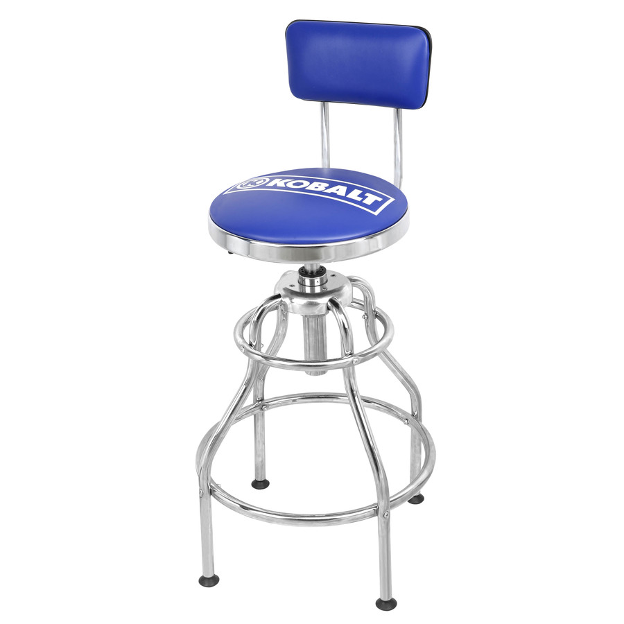 Padded Stool With Backrest