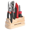 Task Force 4-Piece Basic Tool Set with Wooden Base