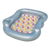 Splash & Play Double Designer 2-Seat Silver/Multi-Colored Inflatable Lounger