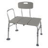 Drive Medical Gray Plastic Freestanding Transfer Bench