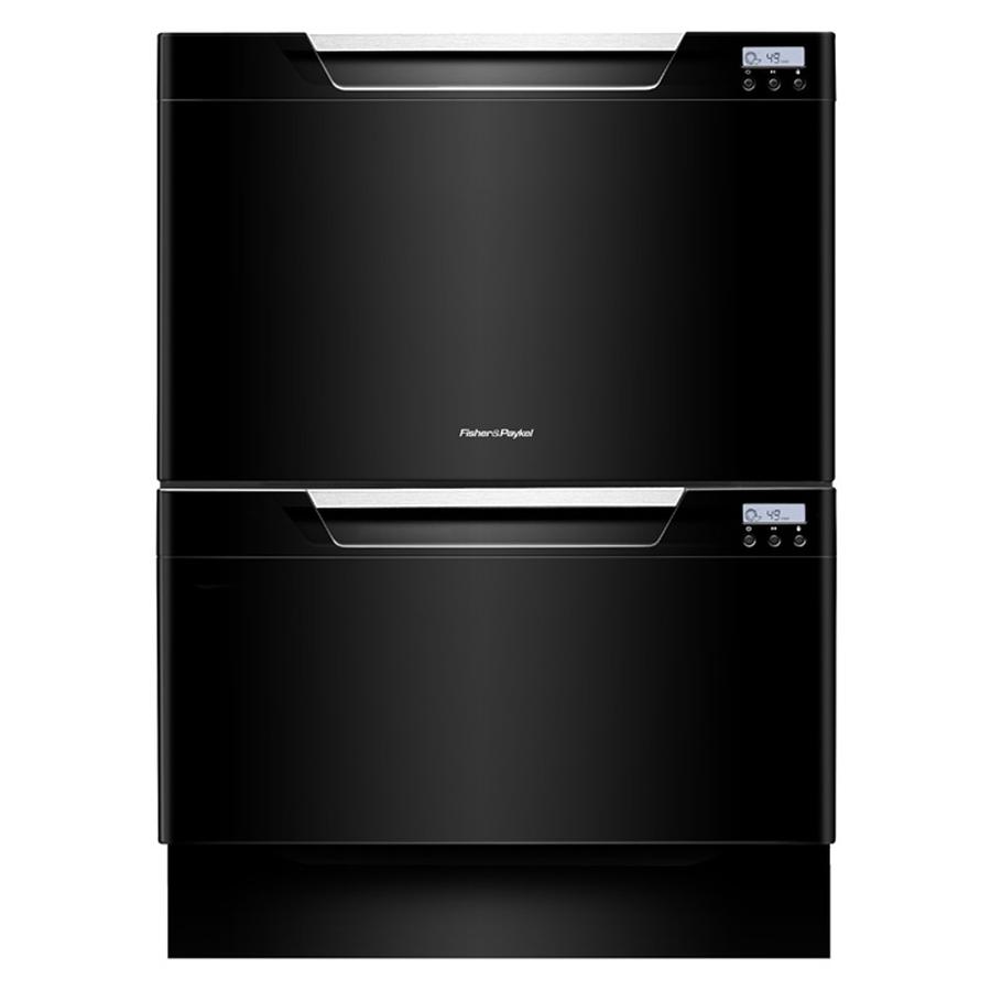 Shop fisher paykel 51 5 decibel double drawer dishwasher black energy star at - Fisher paykel dishwasher drawer reviews ...