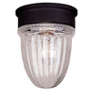 5-3/8-in Textured Black Outdoor Flush-Mount Light
