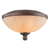 3-Light Dark Bamboo Incandescent Ceiling Fan Light Kit