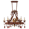 Shandy 23-in W 6-Light Relic Rust Hardwired Lighted Pot Rack with Shade