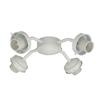 4-Light White Incandescent Ceiling Fan Light Kit