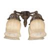 4-Light Autumn Gold Incandescent Ceiling Fan Light Kit