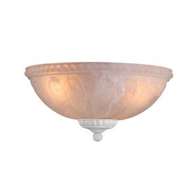 3-Light Textured White Incandescent Ceiling Fan Light Kit