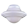 1-Light White Ceiling Fan Light Kit with White Glass
