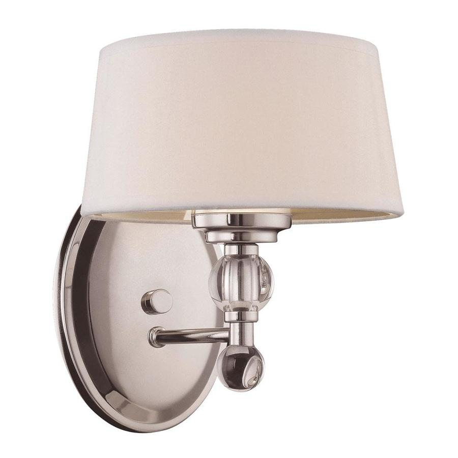 Shop Shandy 7.5-in W 1-Light Polished Nickel Arm Hardwired Wall Sconce at Lowes.com