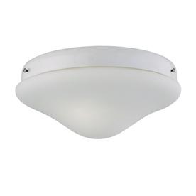 2-Light White Incandescent Ceiling Fan Light Kit