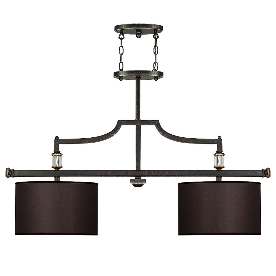 Lowes Kitchen Island Lighting Shop Allen Roth Bristow 36 In W 3 Light Mission Bronze Standard