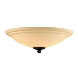 2-Light Espresso Incandescent Ceiling Fan Light Kit