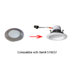 Utilitech Pro Brush Nickel Shower Recessed Light Trim (Fits Housing Diameter: 4-in)