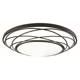 lighting flush mount lights portfolio 19 in w black led ceiling flush. Black Bedroom Furniture Sets. Home Design Ideas
