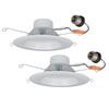 Utilitech Pro 2-Pack 65-Watt Equivalent White Led Recessed Retrofit Downlight (Fits Housing Diameter: 5-in or 6-In)