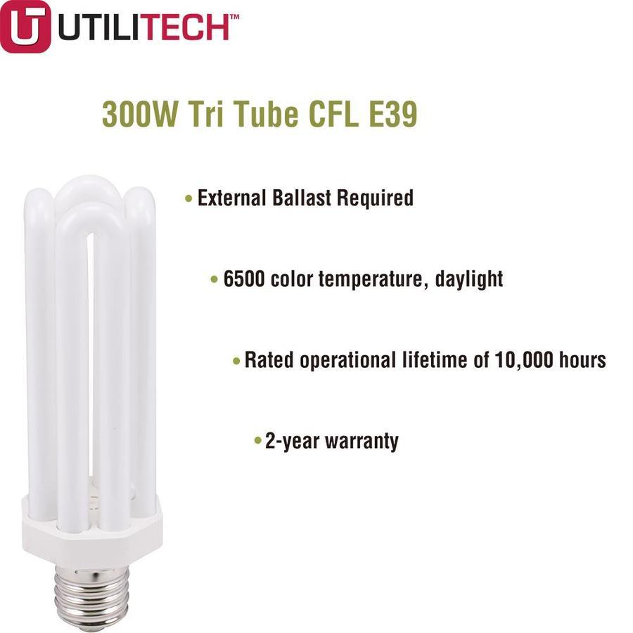 300 Watt Equivalent Daylight E39 CFL Tube Light Bulb Mogul Base Utilitech 2 PACK