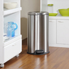 Style Selections 30-Liter Stainless Steel Oval Trash Can